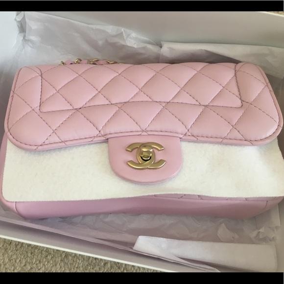 c49894ca34f4 CHANEL Bags | Classic Lamb Skin Flap In Baby Pink | Poshmark